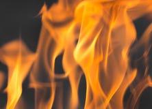 Φλόγες της πυρκαγιάς ως υπόβαθρο Στοκ φωτογραφία με δικαίωμα ελεύθερης χρήσης