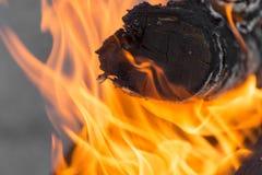Φλόγες της πυρκαγιάς ως υπόβαθρο Στοκ Φωτογραφίες