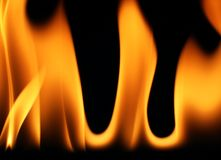 φλόγες 1 Στοκ Φωτογραφία