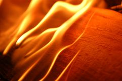 φλόγες IV πυρκαγιάς Στοκ εικόνα με δικαίωμα ελεύθερης χρήσης