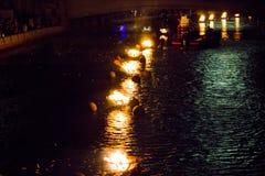 Φλόγες WaterFire, πρόνοια, Ρόουντ Άιλαντ στοκ εικόνα με δικαίωμα ελεύθερης χρήσης
