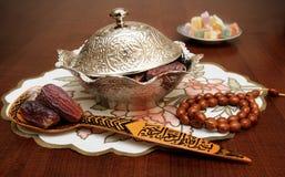 Φοίνικας-ημερομηνίες Ramadan στοκ εικόνες