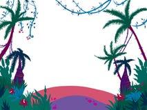 Φοίνικας ηλιοβασιλέματος πλαισίων διανυσματική απεικόνιση