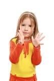 φοίνικας κοριτσιών χειρ&omicr Στοκ εικόνα με δικαίωμα ελεύθερης χρήσης