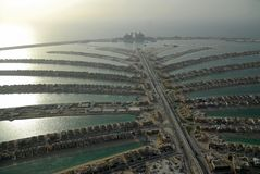 φοίνικας νησιών jumeirah Στοκ Εικόνες