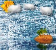 φοίνικας παραλιών colage Ξύλινη ανασκόπηση Στοκ Εικόνες