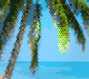 Φοίνικας στην παραλία στο μωσαϊκό Στοκ Εικόνες