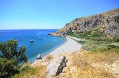 φοίνικας της Κρήτης παραλ Στοκ Φωτογραφίες