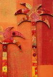 φοίνικες κολάζ Στοκ Εικόνα