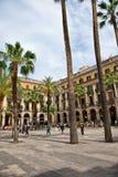 Φοίνικες σε Placa Reial, Βαρκελώνη, Ισπανία Στοκ Εικόνες