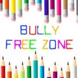 Φοβερίστε τη ελεύθερη ζώνη δείχνει τα φοβερίζοντας παιδιά και Cyberbully ελεύθερη απεικόνιση δικαιώματος