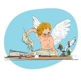 Φοβερίστε τον άγγελο βγάζει τη σελίδα βιβλίων ελεύθερη απεικόνιση δικαιώματος