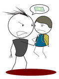 Φοβερίστε το παιδί διανυσματική απεικόνιση
