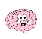 Φοβησμένα κινούμενα σχέδια εγκεφάλου Στοκ Εικόνες