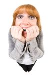 φοβησμένη γυναίκα Στοκ Εικόνες