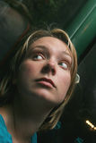 φοβησμένη γυναίκα Στοκ εικόνα με δικαίωμα ελεύθερης χρήσης