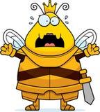 Φοβησμένη μέλισσα κινούμενων σχεδίων βασίλισσα Armor διανυσματική απεικόνιση