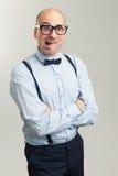 Φοβησμένος φαλακρός επιχειρηματίας Στοκ φωτογραφία με δικαίωμα ελεύθερης χρήσης