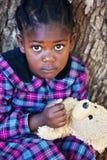 φοβησμένος teddy στοκ φωτογραφία με δικαίωμα ελεύθερης χρήσης