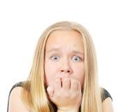Φοβησμένο κορίτσι Στοκ εικόνα με δικαίωμα ελεύθερης χρήσης