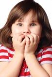 Φοβησμένο κορίτσι Στοκ Εικόνες