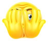 Φοβησμένο emoticon emoji Στοκ Φωτογραφία