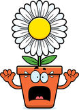 Φοβησμένο Flowerpot κινούμενων σχεδίων Στοκ εικόνες με δικαίωμα ελεύθερης χρήσης