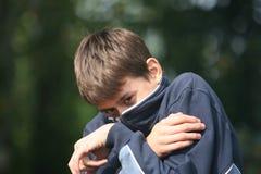 φοβισμένο αγόρι Στοκ εικόνες με δικαίωμα ελεύθερης χρήσης