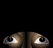 φοβισμένο πρόσωπο ματιών Στοκ Εικόνες