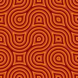 Φοβιτσιάρες άγριο πορτοκάλι προτύπων κύκλων άνευ ραφής διανυσματική απεικόνιση
