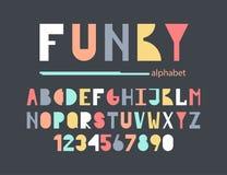 Φοβιτσιάρες ζωηρόχρωμο αλφάβητο απεικόνιση αποθεμάτων