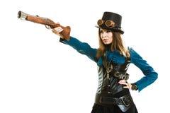 Φοβιτσιάρες κορίτσι στο ύφος steampunk Στοκ φωτογραφίες με δικαίωμα ελεύθερης χρήσης