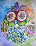 Φοβιτσιάρες πουλί Doodle Στοκ Εικόνα