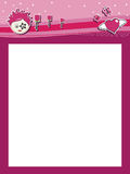 φοβιτσιάρες ροζ επικεφ& Στοκ εικόνα με δικαίωμα ελεύθερης χρήσης
