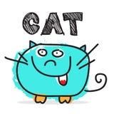 Φοβιτσιάρης διανυσματική απεικόνιση γατών απεικόνιση αποθεμάτων