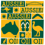 Φοβιτσιάρης κάρτα ημέρας της Αυστραλίας απεικόνιση αποθεμάτων