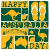 Φοβιτσιάρης κάρτα ημέρας της Αυστραλίας διανυσματική απεικόνιση