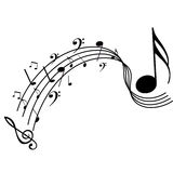 φοβιτσιάρης μουσική ανα&sig στοκ φωτογραφίες με δικαίωμα ελεύθερης χρήσης