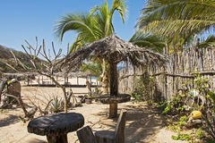 Φοβιτσιάρης παραλία Ειρηνικών Ωκεανών hideaway στοκ φωτογραφία