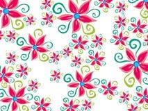φοβιτσιάρης groovy λουλουδιών μαργαριτών διανυσματική απεικόνιση