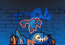 φοβιτσιάρη γκράφιτι Στοκ φωτογραφία με δικαίωμα ελεύθερης χρήσης
