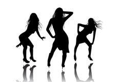 φοβιτσιάρη κορίτσια χορ&omicro διανυσματική απεικόνιση