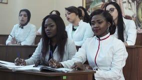 Φοιτητές Ιατρικής στη διάλεξη απόθεμα βίντεο