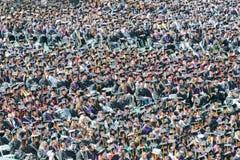 Φοιτητές πανεπιστημίου στην τελετή βαθμολόγησης Στοκ Εικόνα
