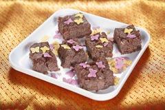 Φοντάν σοκολάτας ρυζιού Moongil, φοντάν σοκολάτας ρυζιού μπαμπού Στοκ Φωτογραφίες