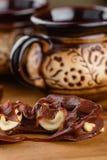 Φοντάν σοκολάτας με το το δυτικό ανακάρδιο Στοκ εικόνα με δικαίωμα ελεύθερης χρήσης