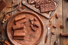 φοντάν σοκολάτας σπιτικό Στοκ Φωτογραφίες
