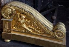 Φοντενμπλώ, Γαλλία - 15 Αυγούστου 2015: Λεπτομέρειες, άγαλμα και έπιπλα Στοκ Εικόνες