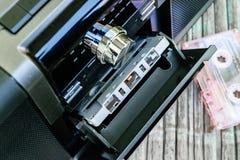 Φορέας και ραδιόφωνο κασετών Στοκ Εικόνες