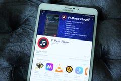 Φορέας κινητό app μουσικής pi Στοκ φωτογραφία με δικαίωμα ελεύθερης χρήσης